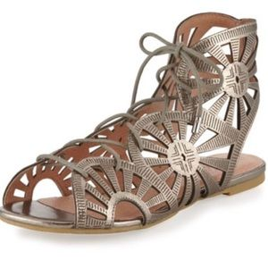 Joie $295 Teagan Laser Cut Gladiator Sandals